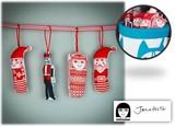 手作りソーイングキット『Small X-mas Ornament(クリスマスオーナメント)』by Jane Foster