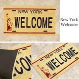【玄関マット】コイヤーマット[New York Welcome:レクト7443]