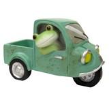 【Copeau】オブジェ 三輪自動車に乗るカエル