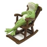 【Copeau】オブジェ ロッキングチェアでうたた寝するカエル