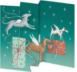 ROGER LA BORDE クリスマス スモールカード <犬×プレゼント>