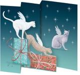 ROGER LA BORDE クリスマス スモールカード <猫×プレゼント>