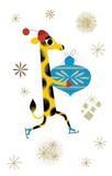 ROGER LA BORDE クリスマス スモールカード <きりん>