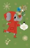 ROGER LA BORDE クリスマス スモールカード <ゾウ>
