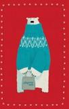 ROGER LA BORDE クリスマス スモールカード <シロクマ>
