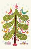 ROGER LA BORDE クリスマス スモールカード <ツリー・鳥>