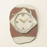 【信楽焼】レリーフ時計