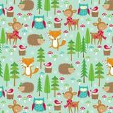 THE GIFT WRAP COMPANY ジャンボラッピングペーパー クリスマス <動物> 包装紙