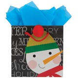 THE GIFT WRAP COMPANY クリスマスペーパーギフトバッグ スノーマン