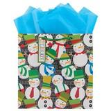 THE GIFT WRAP COMPANY クリスマスペーパーギフトバッグ <スノーマン>