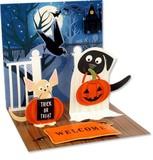 UP WITH PAPERトレジャーズカード 立体仕様 ハロウィン 動物 かぼちゃ
