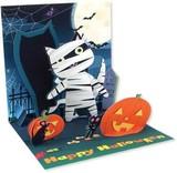 UP WITH PAPERトレジャーズカード 立体仕様 ハロウィン 猫 かぼちゃ