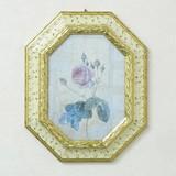 イタリア製 額入り 名画 アートフレーム ルドゥーテ 【レ・ローズ 2】アイボリー アンティーク フレーム