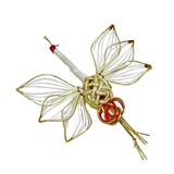 19cm 白/金 水引飾り(鶴大)祝儀飾り、お料理やフラワーアレンジにも