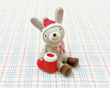 【クリスマス特集】 ノーティークリスマス ウサギ (ノーティーアニマル/ガーデンマスコット)