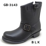 GB-3143 BLK[メンズ]ショートエンジニアタイプ(レインブーツ)GB3143