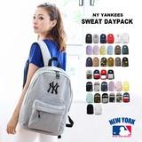 【当社生産 国内ライセンス】ヤンキース スウェット リュック バッグ 鞄 立体刺繍 ユニセックス ねこ