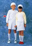 学童給食衣(ホワイト)ダブルSKV359