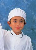 学童給食帽子(ホワイト)SKV363