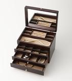 【Wooden Jewel Chest】木製ジュエルケース(3つ引き)○日本製