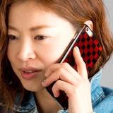 【初回送料無料】<iPhoneカバー>iPhone6カバー(小) 市松 (越前漆器)【E0103】