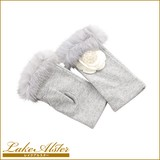【レイクアルスター】ファー付手袋(指なし)[2015-16秋冬]≪服飾小物≫