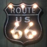 LEDライティングウォールサイン ROUTE66 BLACK