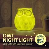 【お部屋や玄関に!フクロウが鳴いて光る】Owl Night Light