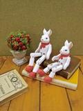 【クリスマス特集】 ノートルペールノエル スウェインウサギ (木製マスコット)
