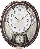訳あり特価!リズム時計製スモールワールド電波掛時計 スモールワールドノエル 4MN509RH23