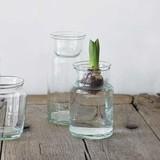 Flower Base Glass Bottle