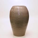 【イタリア製】 陶器かさ立て チャコール地波柄(直送可能)