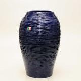 【イタリア製】 陶器かさ立て 青地波柄(直送可能)