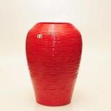 【イタリア製】 陶器かさ立て 赤地波柄(直送可能)