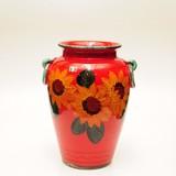 【イタリア製】 陶器かさ立て 赤地花柄 リング付(直送可能)