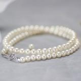 高級 淡水 真珠 パール フォーマル セット 約5.0-5.5mm