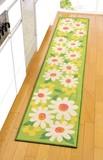 キッチンマット マーガレット(240)< ロングタイプ 花柄 ループパイル >