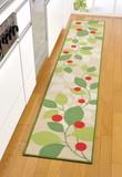 【 SALE  この春値下げしました】キッチンマット リーフ(240)< ロングタイプ リーフ柄 ループパイル >
