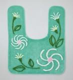 【 SALE  この春値下げしました】トイレマット セントレア < 花柄 緑 グリーン >