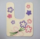 【 SALE  この春値下げしました】トイレマット ブーケット < 花柄 ブーケ クリーム >