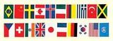 上西産業 ビニール万国旗 20ヵ国連続旗