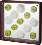 【アウトレット】フラワーアートコレクションボックス【お手入れ簡単】Lサイズ・アップル&ピンポンマム1