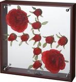 【アウトレット】フラワーアートコレクションボックス【お手入れ簡単】Lサイズ・レッドローズバド