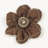 【手芸用品】【アクセサリーパーツ】【デコストーン 】【ハンドメイド素材】ブラウン キルティング 花