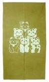 招き猫【暖簾】【のれん】【ねこ】