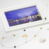 【日本製】【ホワイトデー】 アコヤ真珠 パール オリジナル デザイン ネックレス 約7.0-7.5mm