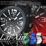 【選べるケース有or無♪】◇腕時計  ラバーバンド 3D メンズ ウォッチ◇LX-7248