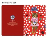 【ナタリーレテ 】  CARD(BIRTHDAY/Cat)