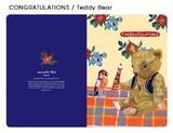 【ナタリーレテ 】  CARD(CONGRATURATIONS / Teddy bear)