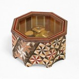【箱根寄木細工】八角オルゴール 世界に一つだけの花